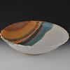"#21 SW Large Bowl with Patterned Rim 5 to 6"" H x 15 to 18"" W"